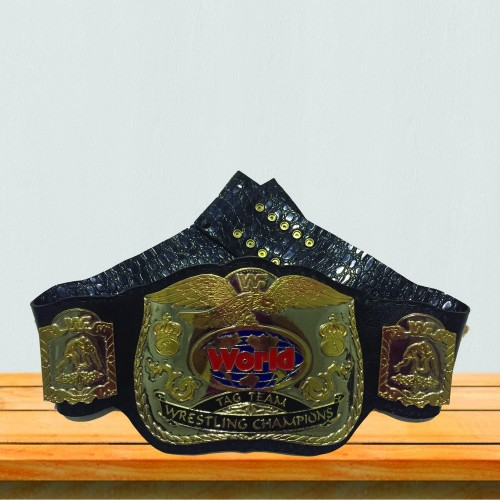 WWF 4mm DUAL PLATED World Tag Team Wrestling Championship Replica Belt